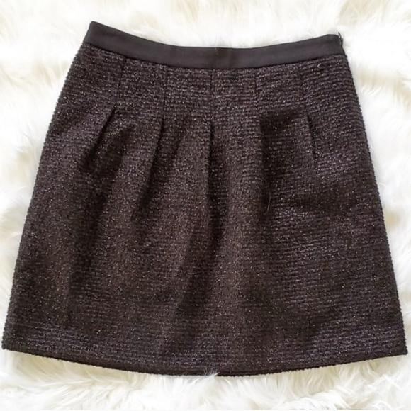 LOFT Dresses & Skirts - Loft Ann Taylor black sparkly Skater Skirt